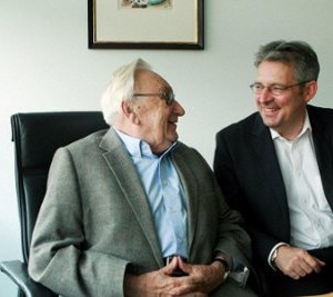Egon Bahr und Achim Post